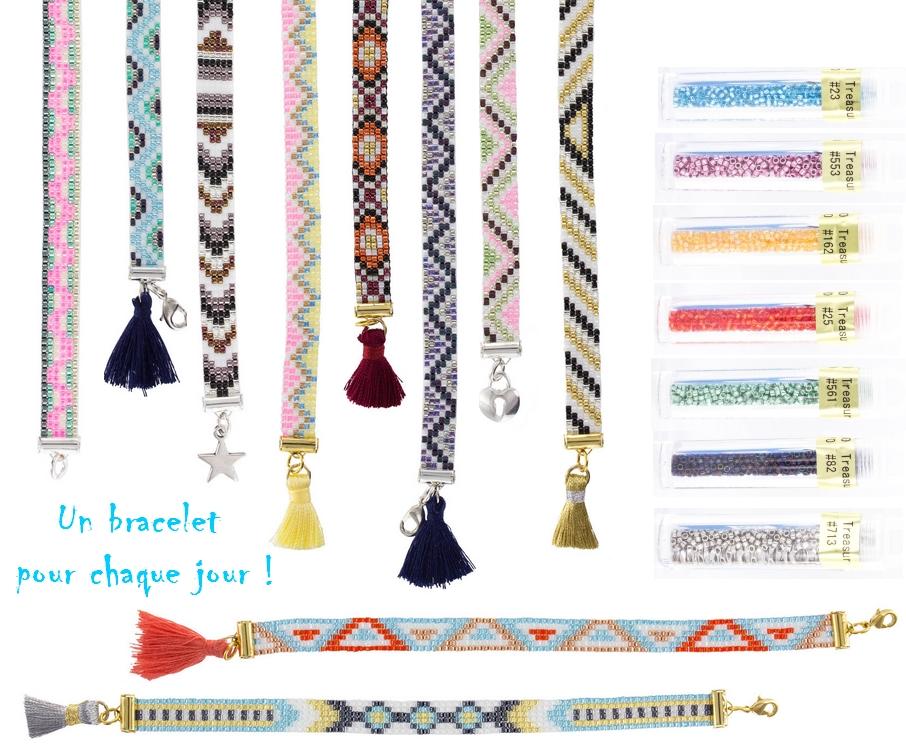 bracelets perles toho treasure