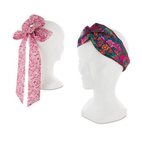 Kit foulchie et headband en Liberty pour femme